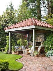 Elegant backyard landscaping ideas using bricks 41
