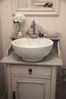 Elegant bowl less sink bathroom ideas 02