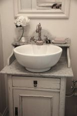 Elegant bowl less sink bathroom ideas 02