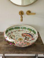 Elegant bowl less sink bathroom ideas 03