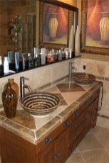Elegant bowl less sink bathroom ideas 04