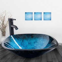 Elegant bowl less sink bathroom ideas 15