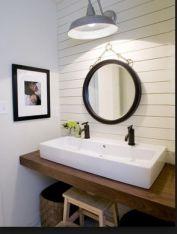 Elegant bowl less sink bathroom ideas 19