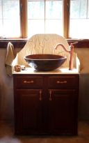 Elegant bowl less sink bathroom ideas 20
