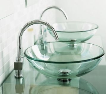 Elegant bowl less sink bathroom ideas 23