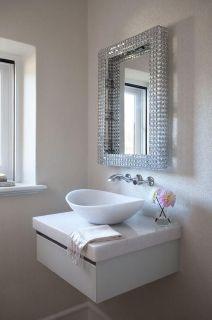 Elegant bowl less sink bathroom ideas 28
