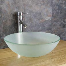Elegant bowl less sink bathroom ideas 29