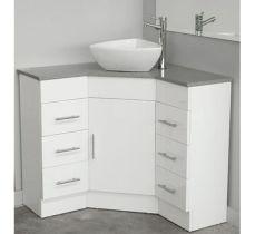Elegant bowl less sink bathroom ideas 41