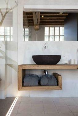 Elegant bowl less sink bathroom ideas 48