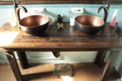 Elegant bowl less sink bathroom ideas 50