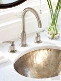 Elegant bowl less sink bathroom ideas 51