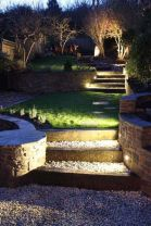 Gorgeous night yard landscape lighting design ideas 17