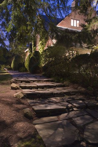 Gorgeous night yard landscape lighting design ideas 26
