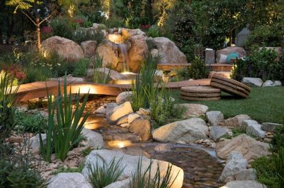Gorgeous night yard landscape lighting design ideas 38