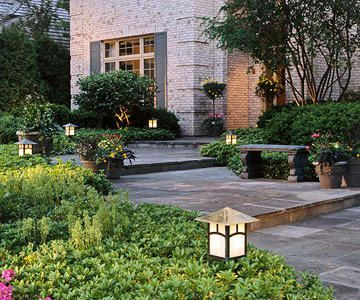Gorgeous night yard landscape lighting design ideas 40