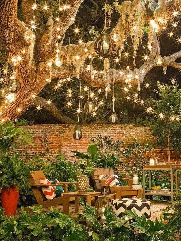 Gorgeous night yard landscape lighting design ideas 53
