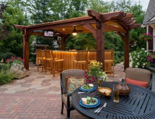 Modern small outdoor patio design decorating ideas 15