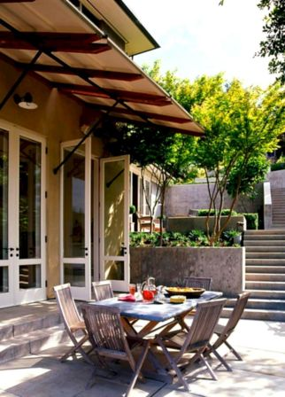 Modern small outdoor patio design decorating ideas 17