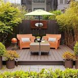 Modern small outdoor patio design decorating ideas 37