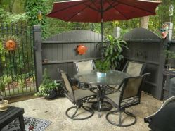 Modern small outdoor patio design decorating ideas 40