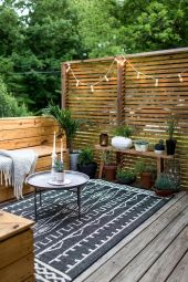 Modern small outdoor patio design decorating ideas 45