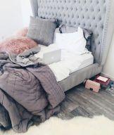 Stunning grey bedroom flooring ideas for soft room 02