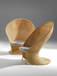 Unique bamboo sofa chair designs ideas 28