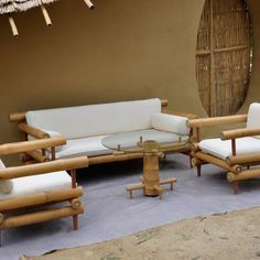 Unique bamboo sofa chair designs ideas 37