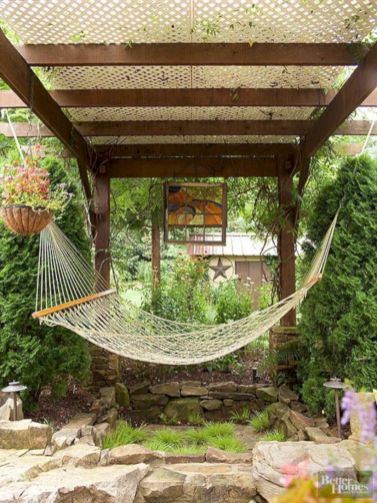 Best backyard hammock decor ideas 29