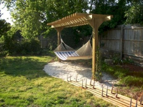 Best backyard hammock decor ideas 30