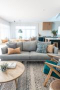 Charming gray living room design ideas for your apartment 03