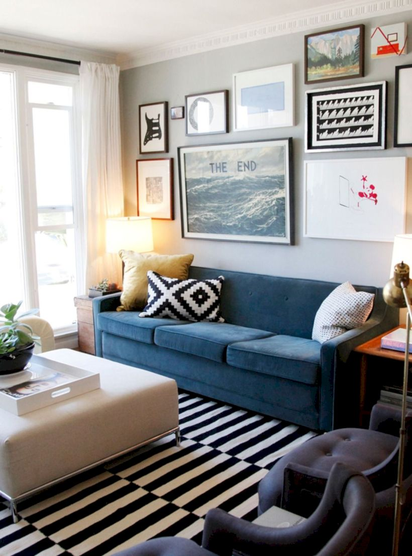 Charming gray living room design ideas for your apartment 04