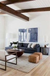 Charming gray living room design ideas for your apartment 05