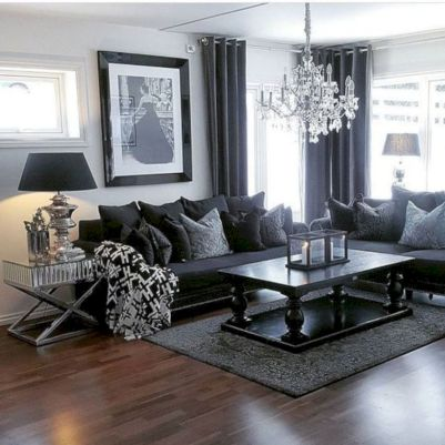 Charming gray living room design ideas for your apartment 10