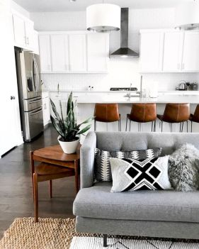 Charming gray living room design ideas for your apartment 13