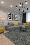 Charming gray living room design ideas for your apartment 16