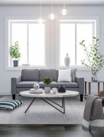 Charming gray living room design ideas for your apartment 17