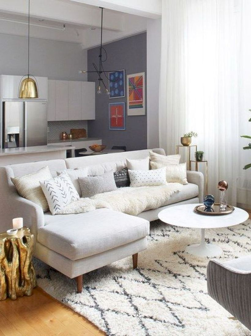 Charming gray living room design ideas for your apartment 18