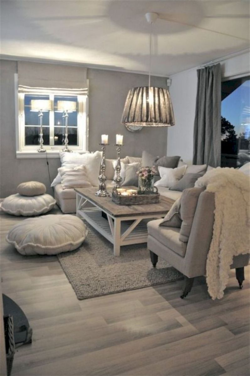 Charming gray living room design ideas for your apartment 29