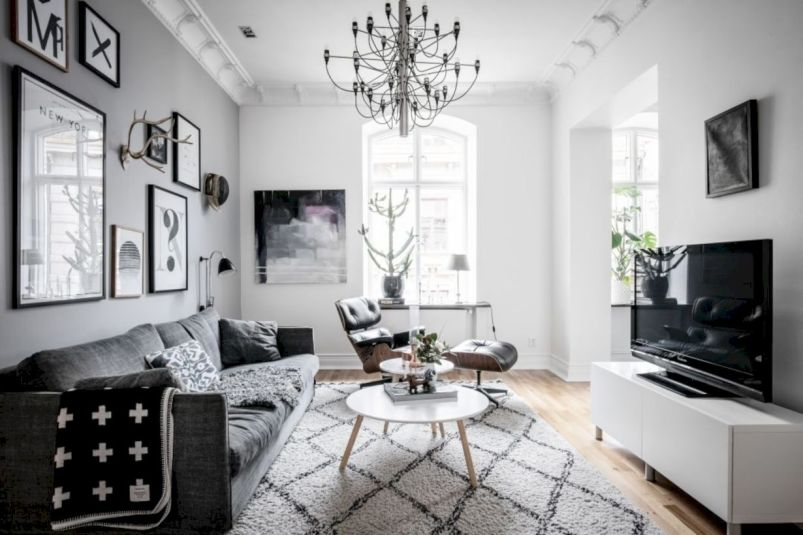 Charming gray living room design ideas for your apartment 36