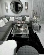 Charming gray living room design ideas for your apartment 39
