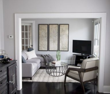 Charming gray living room design ideas for your apartment 41