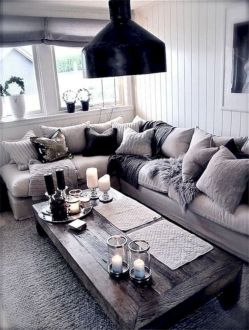 Charming gray living room design ideas for your apartment 42