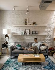 Colorful brick wall design ideas for home interior ideas 18