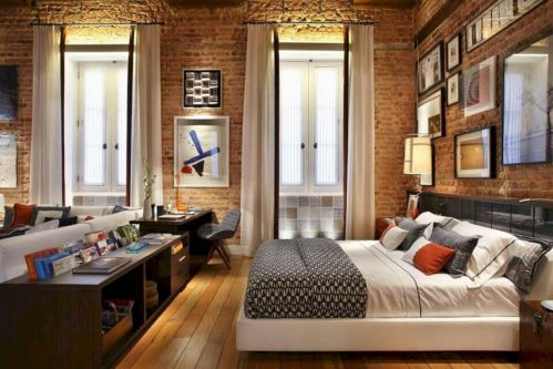 Colorful brick wall design ideas for home interior ideas 38