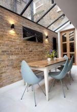 Colorful brick wall design ideas for home interior ideas 42