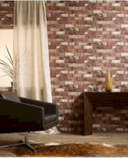 Colorful brick wall design ideas for home interior ideas 48