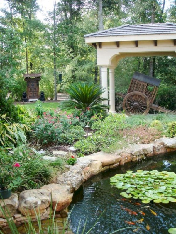 Comfy green country backyard remodel ideas 10