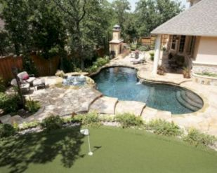 Comfy green country backyard remodel ideas 20