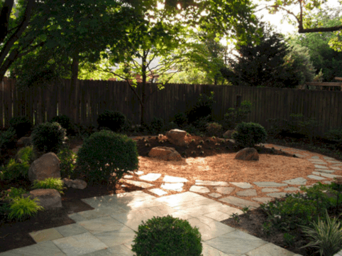 Comfy green country backyard remodel ideas 23